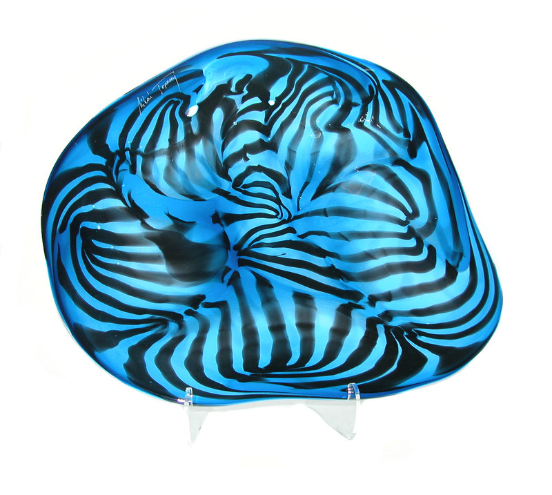 Fantasia Blue Centerpiece Plate