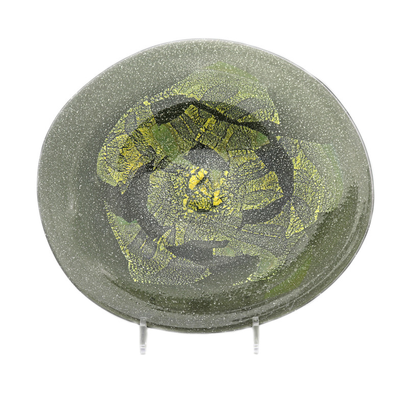 Sardinia Plate Olive Green Gold