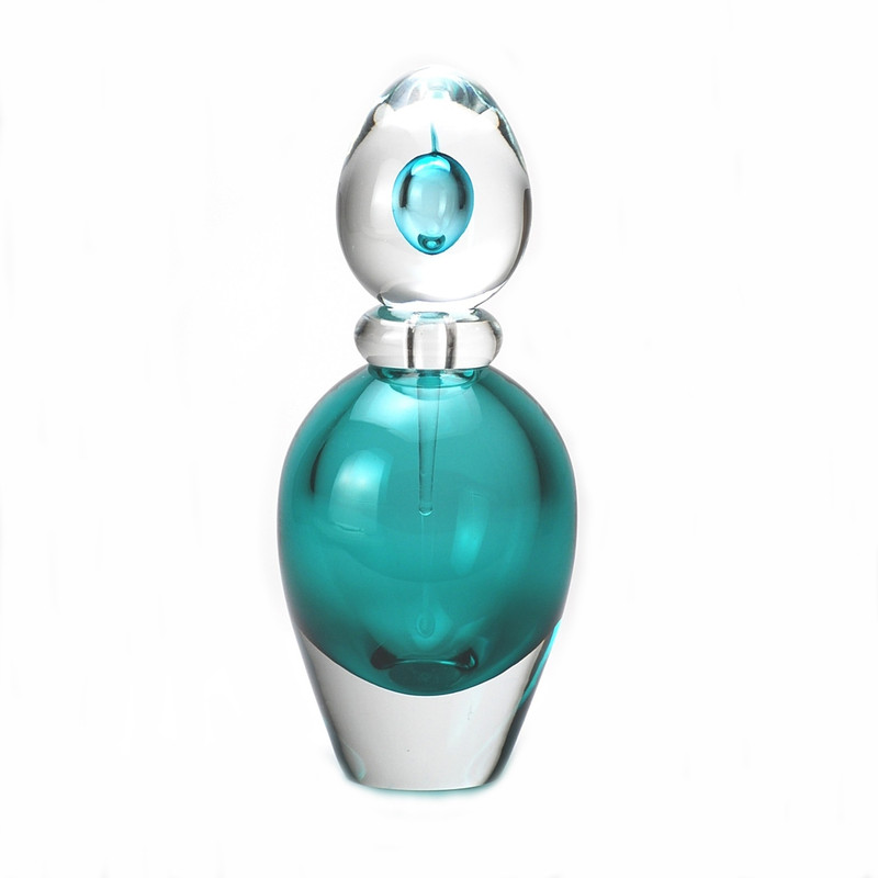 Murano Glass Design Capri Turquoise Crystal Perfume Bottle