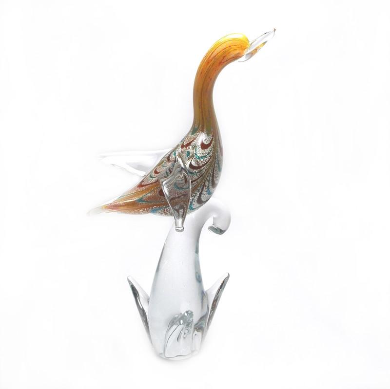Murano Glass Swan Fenicio