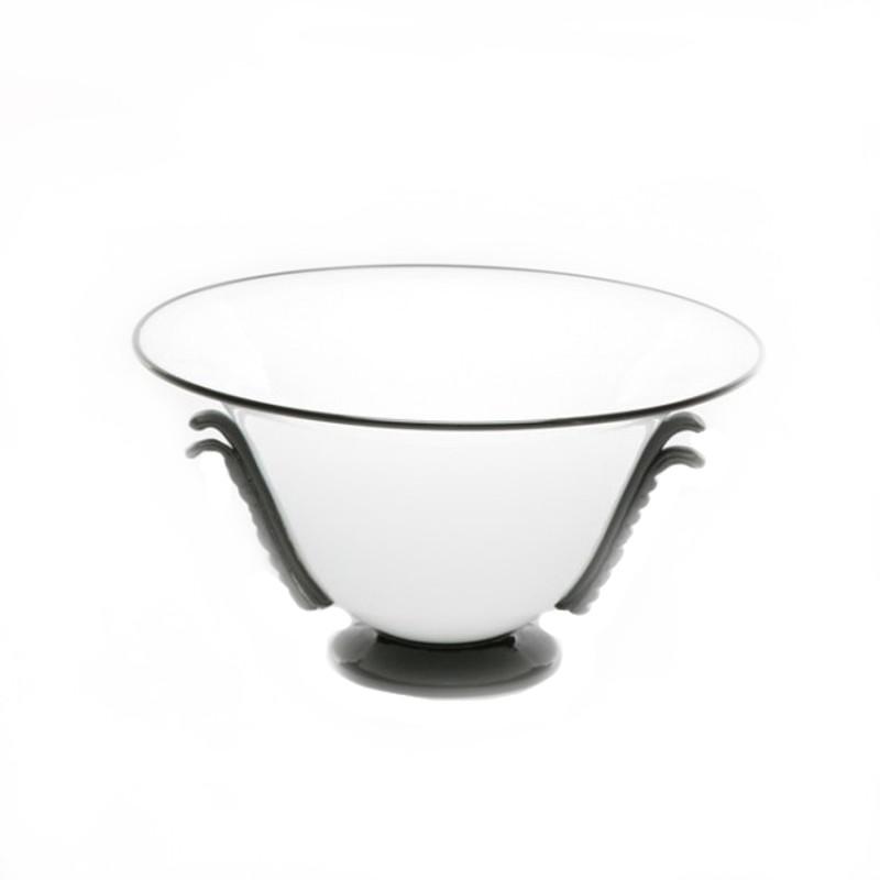Murano Glass Centerpiece Bowl Opal Black