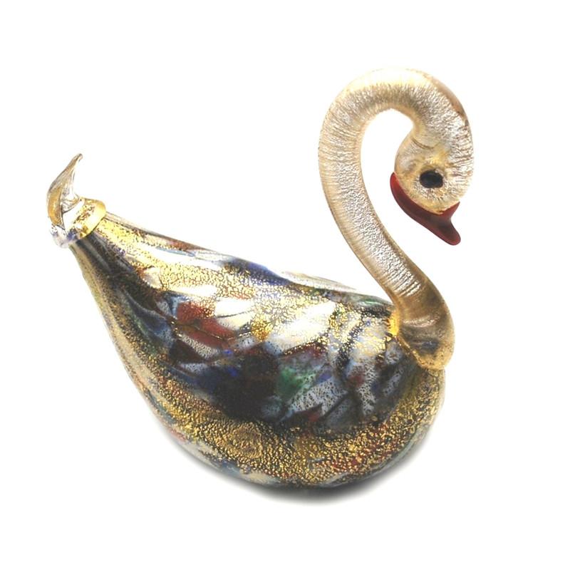 Murano Glass Swan Murrine