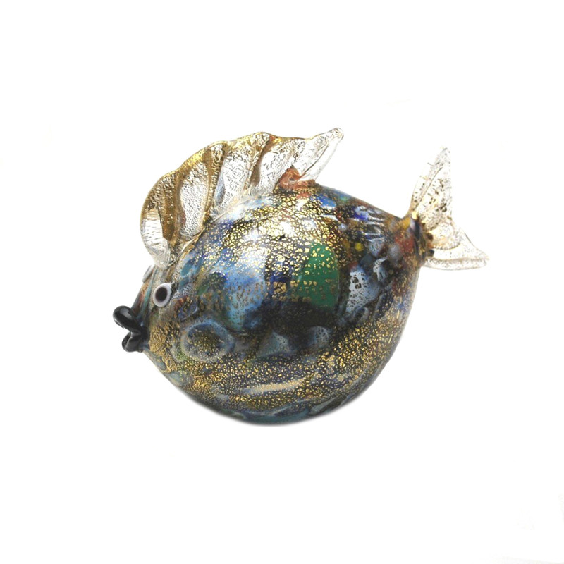 Murano Glass Blow Fish Murrine