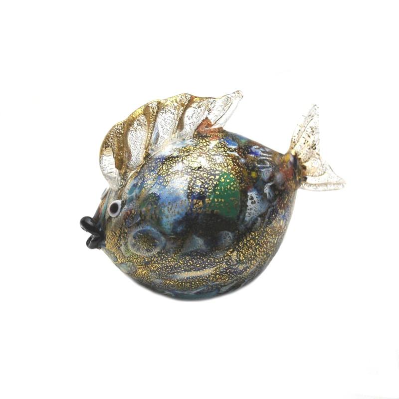 Murano Glass Blow Fish Murrine