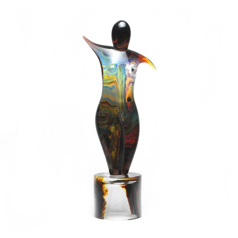 Murano Glass Ballerina Sculpture Calcedonia Large