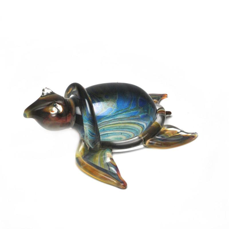 Murano Glass Turtle Calcedonia