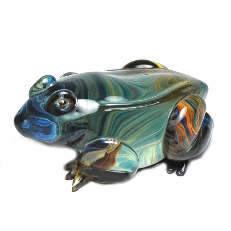 Murano Glass Frog Calcedonia