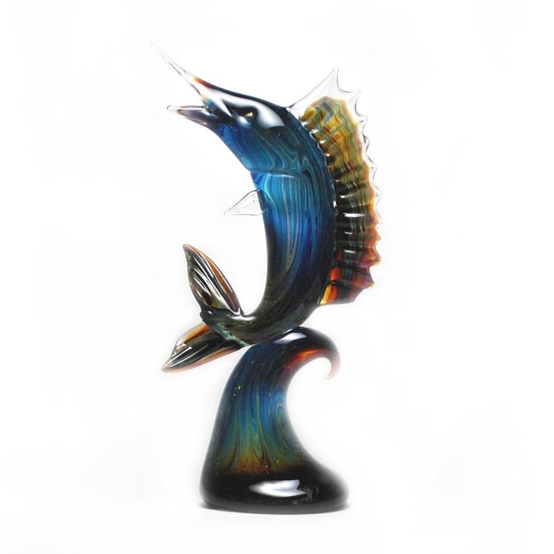 Murano Glass Marlin Calcedonia