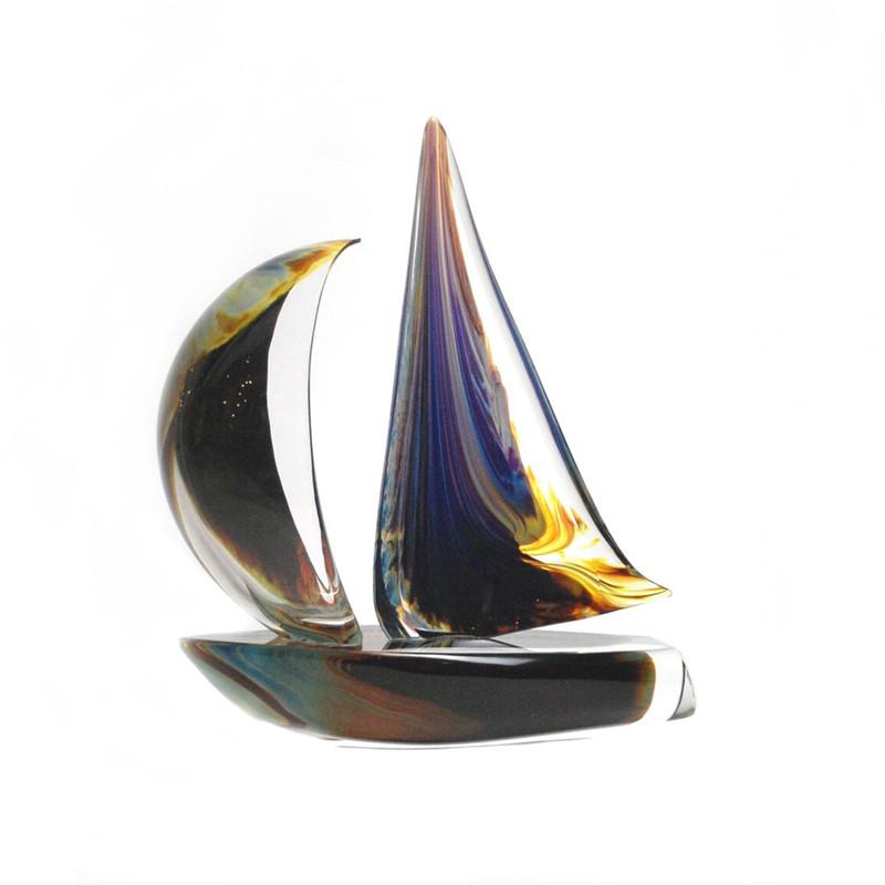 Murano Glass Sailboat Calcedonia Large