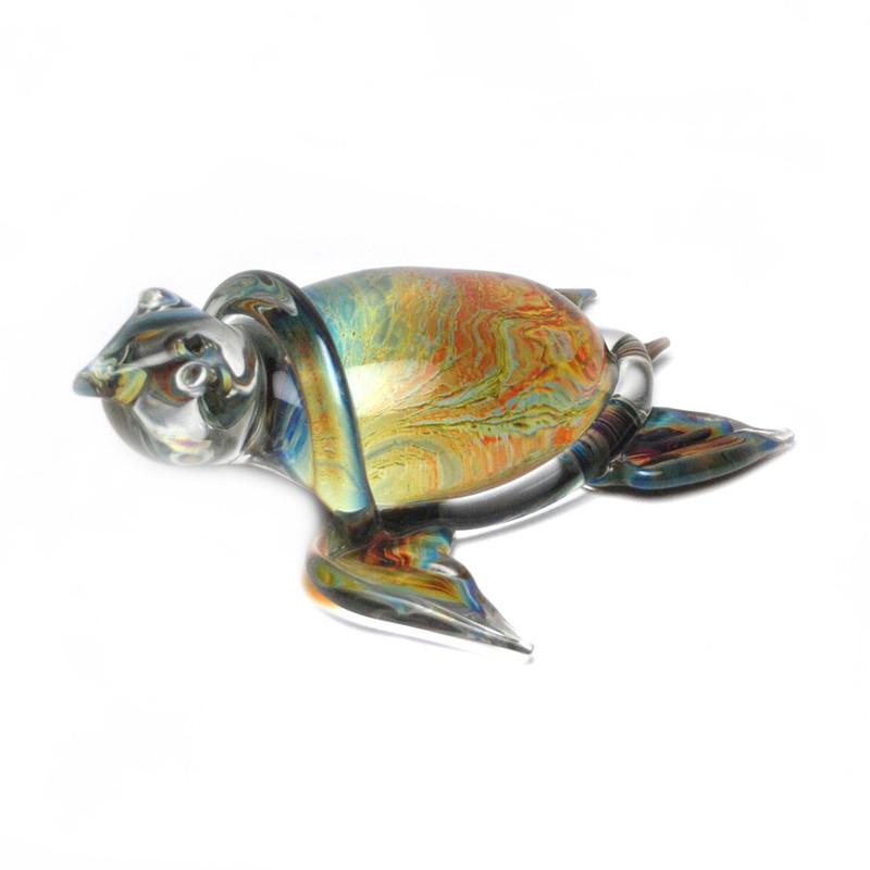 Murano Glass Turtle  Calcedonia Large