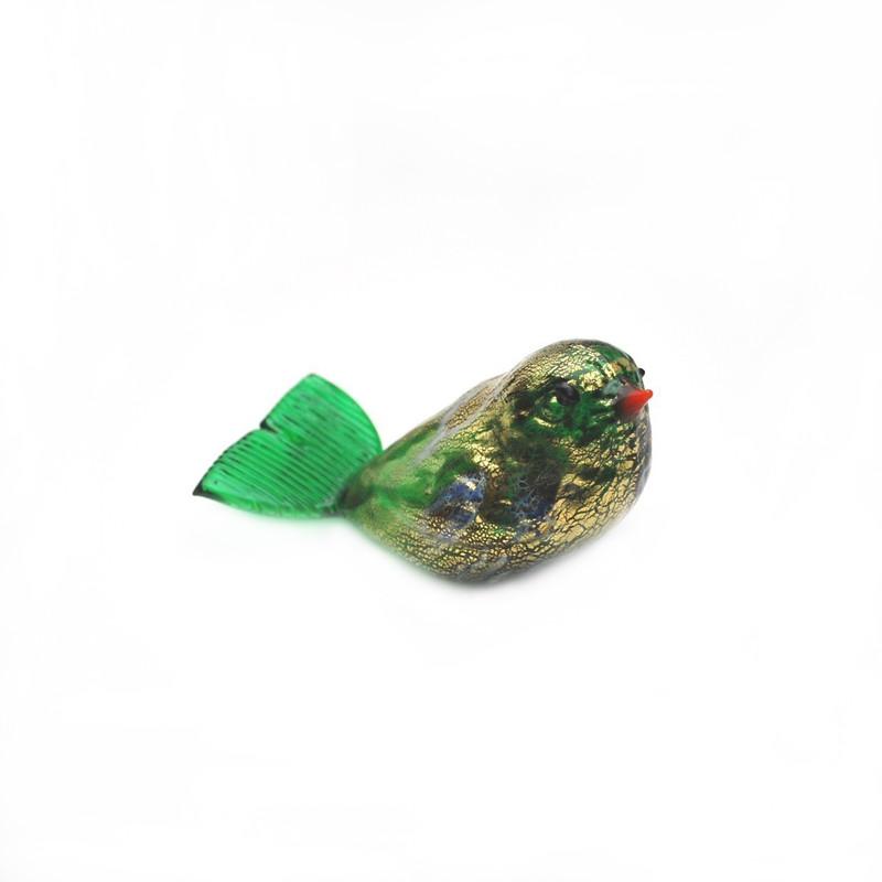 Murano Glass Bird Green