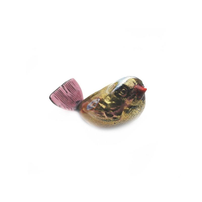 Murano Glass Bird Amethyst