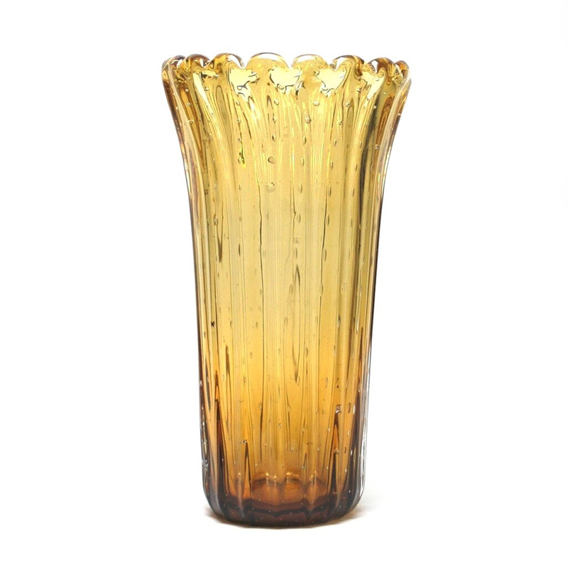 Murano Glass Dynasty Vase Amber