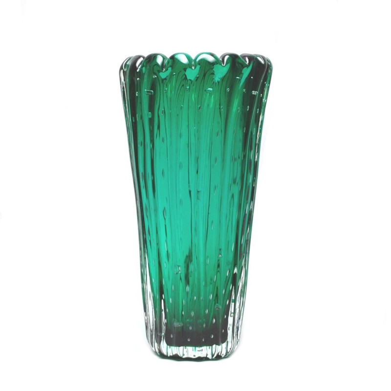 Murano Glass Dynasty Vase Green