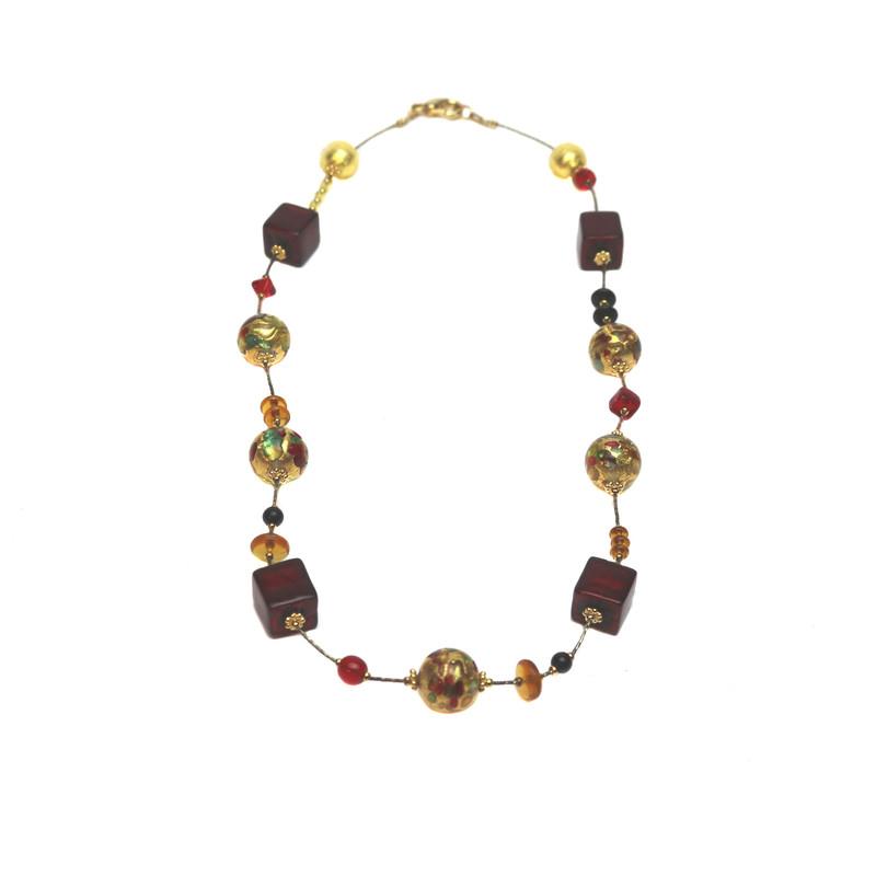 Murano Glass Necklace Fantasia Barocco