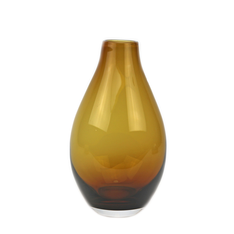 Teardrop Vase Amber