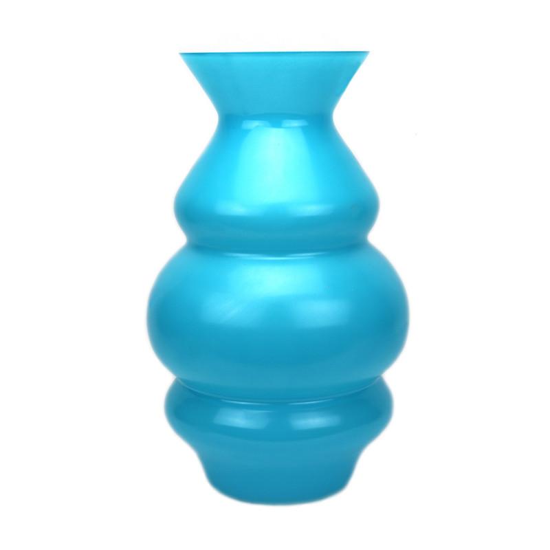 Wave Vase Aqua
