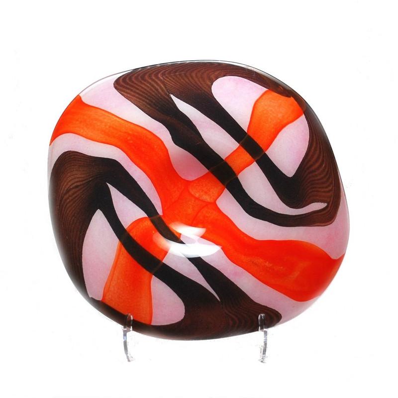 Hermosa Centerpiece Plate Opal Orange Brown