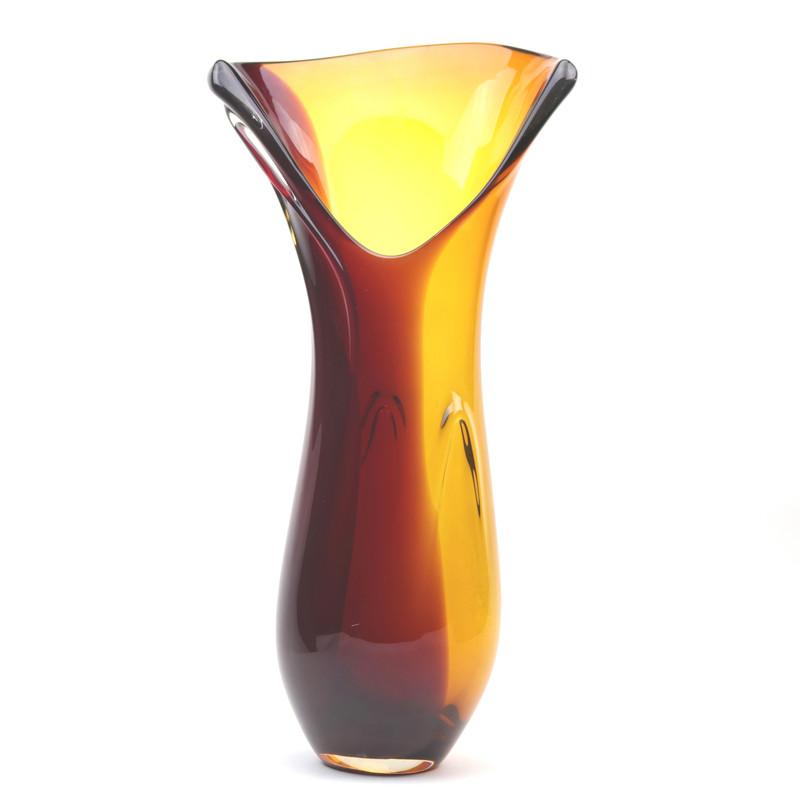 Murano Glass Design Crystal Wave Vase