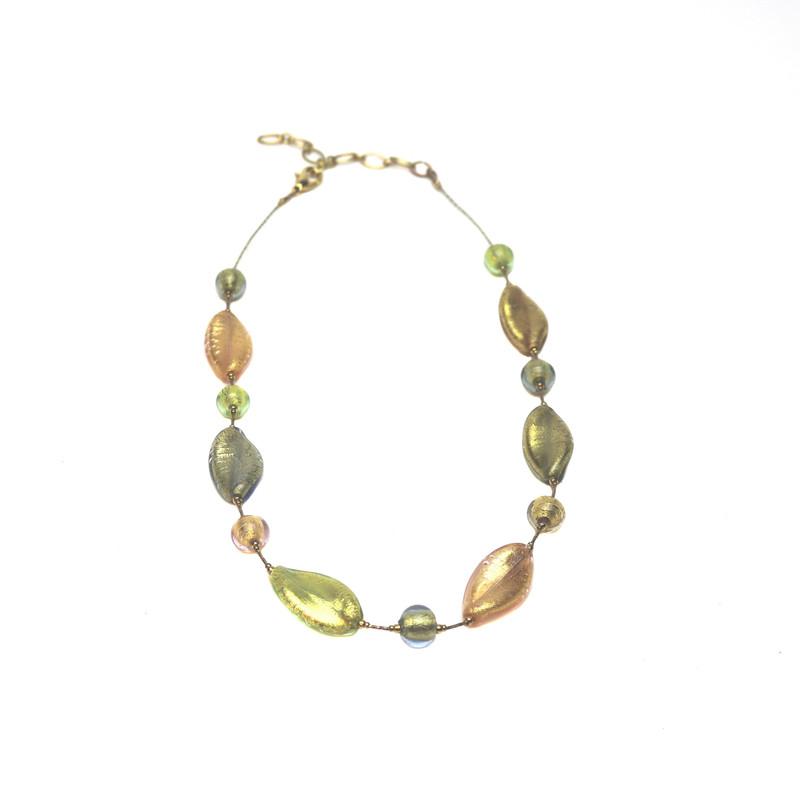 Murano Glass Bella Necklace Gold