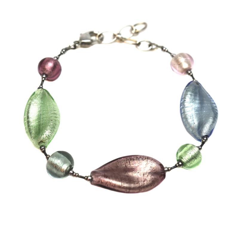 Murano Glass Bella Bracelet Silver