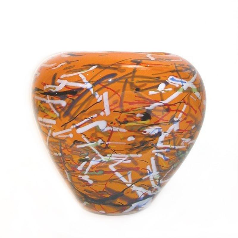 Venice Orange Centerpiece Bowl