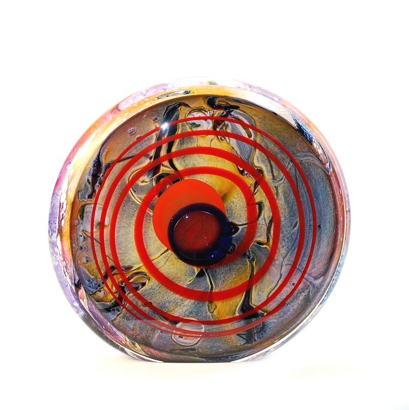 Murano Glass Round Sculpture Calcedonia
