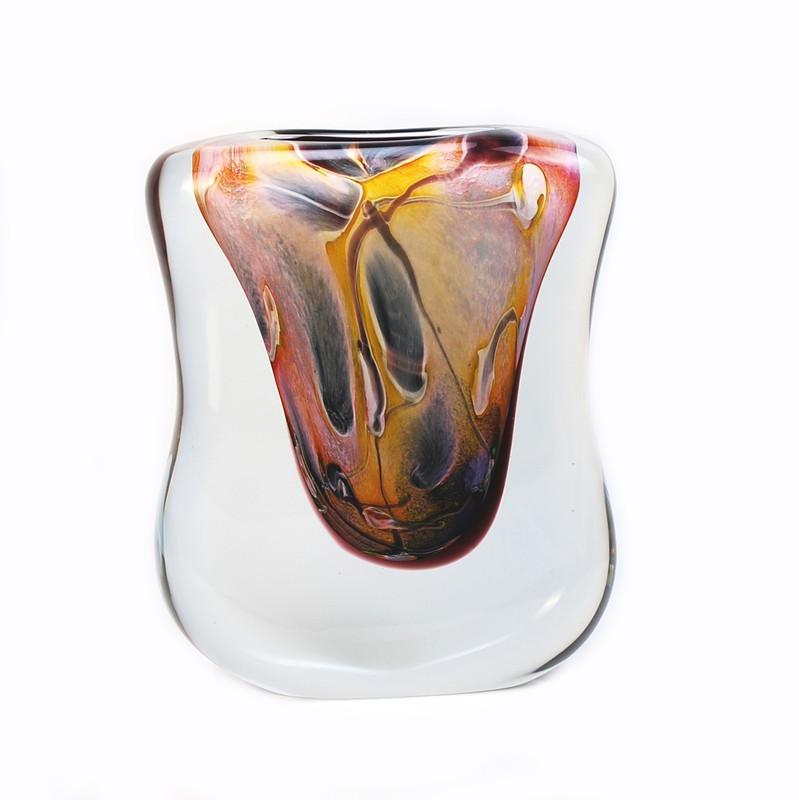 Murano Glass Aria Vase Calcedonia