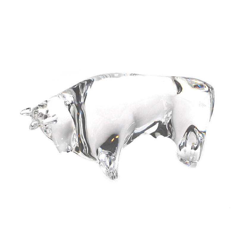 Murano Glass Design Crystal Bull