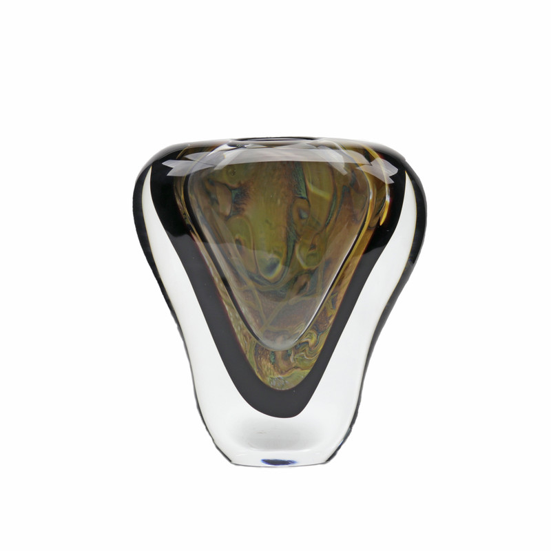 Murano Glass Vase Low Calcedonia