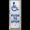 Flush Mount Slender Push Plate
