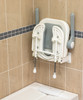 """Deluxe Fold Up """"U"""" Shower Seat With Arms In Up Position"""