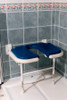 """Deluxe Fold Up Seat With """"U"""" Shape Cut-Out Blue Pad"""