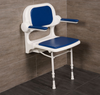Standard Wall Mounted Shower Seat With Back & Arms