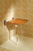 Wooden Fold Down Shower Seat