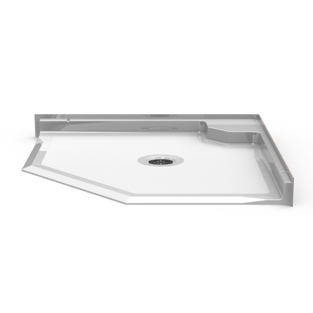 Neo Angle Shower Base.Neo Angle Roll In Shower Pan 42 X 42