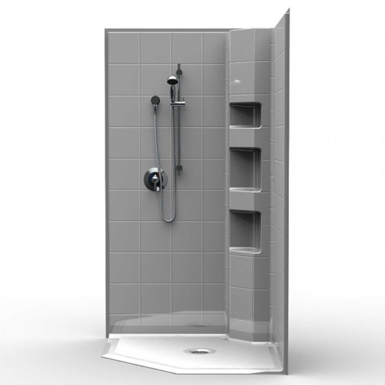 Wheelchair Access Corner Shower 42 X 42