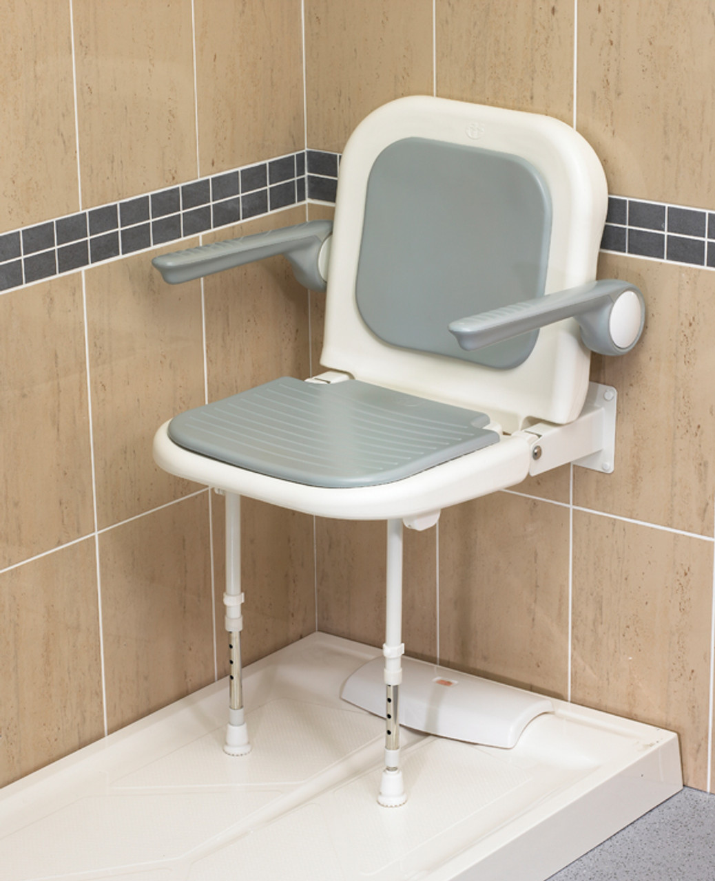 Outstanding Wall Mount Shower Seat With Arms Ocoug Best Dining Table And Chair Ideas Images Ocougorg