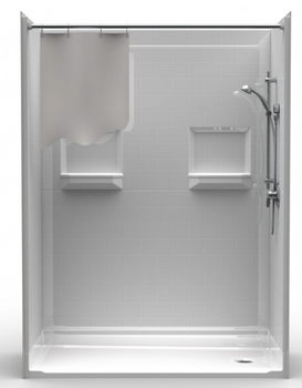 """Roll In Shower Package 60 X 30 With 1-3/4"""" Threshold"""