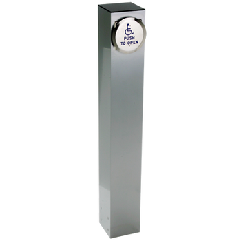 "Wireless 42"" X 6"" Square Push Plate Bollard"