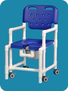 Anti-Tip Rolling Shower Commode Chair