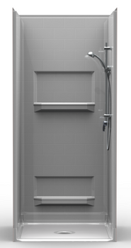 Multi Piece Barrier Free Shower 36 X 36 with Beveled Threshold