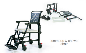 Bath Mobile Travel Commode & Shower Chair