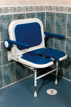 Extra Wide Shower Seat Folds Up