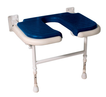 "Deluxe Fold Up Seat With ""U"" Shape Cut-Out"
