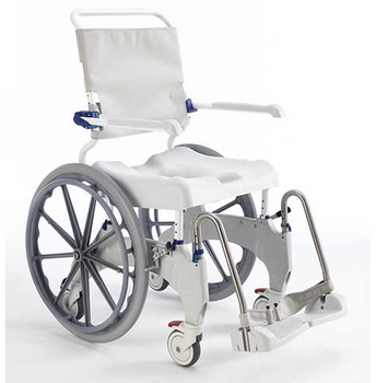 "ERGO SP Shower Commode Chair With 24"" Rear Wheels"