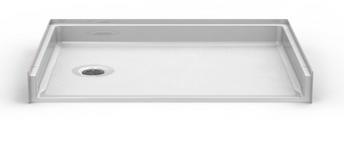 Roll-In Shower Pan 48 X 34 With End Drain