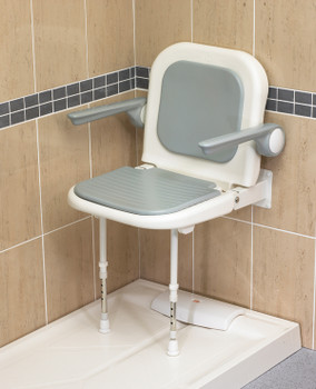 Deluxe Fold Up Shower Seat With Arms
