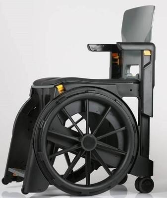 Folding Shower Commode Wheelchair