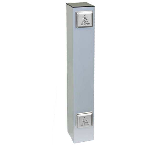 "Wireless 42"" X 6"" Square Double Push Plate Bollard"